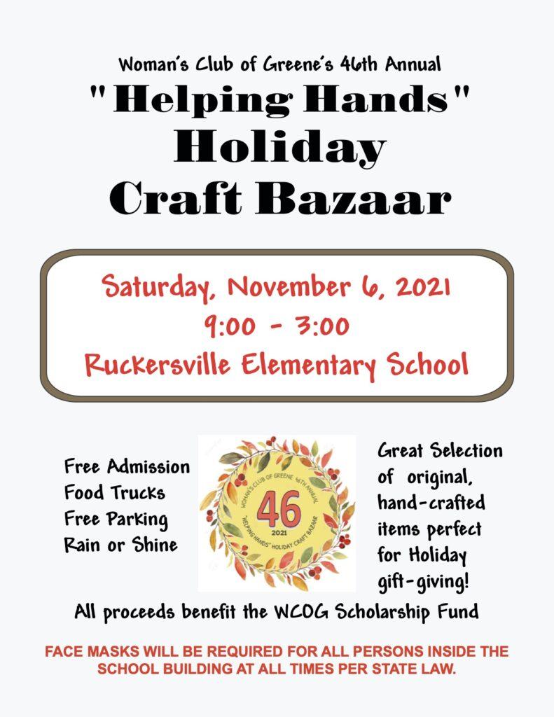 2021 Helping Hands Bazaar Flyer
